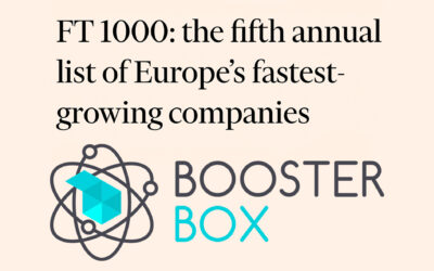Booster Box ranked 127th on the FT 1000: Europe's Fastest-Growing Companies in 2021